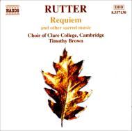 レクィエム ティモシー・ブラウン(指揮)ケンブリッジ・クレア・カレッジ合唱団、シティ・オブ・ロンドン・シンフォニア