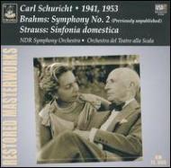 Sym.2 / Sinfonia Domestica: Schuricht / Ndr.so, Scara.o