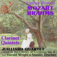 モーツァルト:クラリネット五重奏曲、ブラームス:クラリネット五重奏曲 ライト、ドラッカー(cl)ジュリアード弦楽四重奏団