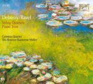 ドビュッシー:弦楽四重奏曲、ラヴェル弦楽四重奏曲、他 カルミナ四重奏団、他(2CD)