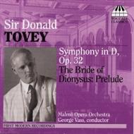 交響曲、『ディオニュソスの花嫁』前奏曲 ヴァス&マルメ歌劇場管弦楽団