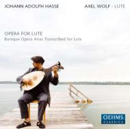 Opera Arias Transcribed For Lute: A.wolf(Lute)