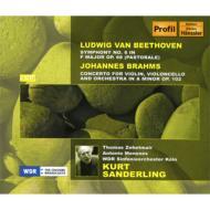 ベートーヴェン:交響曲第6番『田園』、ブラームス:二重協奏曲 ザンデルリング&ケルン放送響、ツェートマイアー(vn)メネセス(vc)