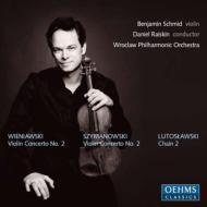 ヴァイオリン協奏曲第2番、他 シュミット(vn)ライスキン&ヴロツワフ・フィル