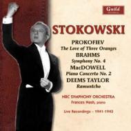 ブラームス:交響曲第4番、プロコフィエフ:組曲『3つのオレンジへの恋』、他 ストコフスキー&NBC響