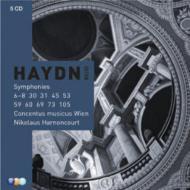 交響曲集、協奏曲集 アーノンクール&ウィーン・コンツェントゥス・ムジクス、タヘツィ、トゥルコヴィチ(5CD)