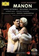 『マノン』全曲 パターソン演出、バレンボイム&ベルリン国立歌劇場、ネトレプコ、ビリャソン、他(2007 ステレオ)(2DVD)