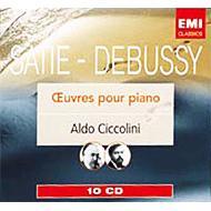 ドビュッシー:ピアノ独奏曲全集、サティ:ピアノ作品集 チッコリーニ(10CD)