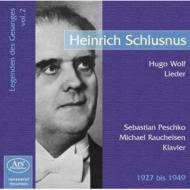 Lieder: Schlusnus(Br)Rupp(P)Etc