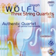3つの弦楽四重奏曲集作品4 オーセンティック四重奏団