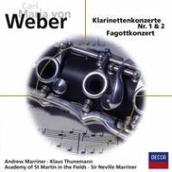 クラリネット協奏曲第1番、第2番、ファゴット協奏曲 A.マリナー、トゥーネマン、マリナー&アカデミー室内管