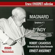 ダンディ:フランスの山人の歌による交響曲、マニャール:交響曲第3番 アンセルメ&スイス・ロマンド管、カサドシュ
