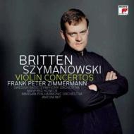 シマノフスキ:ヴァイオリン協奏曲第1番、第2番、ブリテン:ヴァイオリン協奏曲 ツィンマーマン、ヴィト指揮、ホーネック指揮