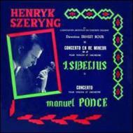 シベリウス:ヴァイオリン協奏曲、ポンセ:ヴァイオリン協奏曲 シェリング、ブール&コロンヌ管