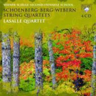 新ウィーン楽派の弦楽四重奏曲集 ラサール四重奏団(4CD)