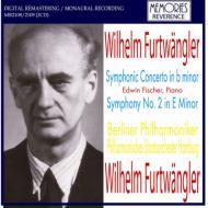 交響曲第2番(ハンブルク・フィル1948)、交響的協奏曲(E.フィッシャー、ベルリン・フィル1939) フルトヴェングラー指揮(2CD)