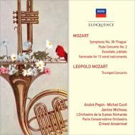 モーツァルト:交響曲第38番、フルート協奏曲第2番、グラン・パルティータ、他 アンセルメ&スイス・ロマンド管、他(2CD)