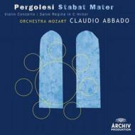 スターバト・マーテル、サルヴェ・レジナ、ヴァイオリン協奏曲 アバド&モーツァルト管、ハルニッシュ、ミンガルド、カルミニョーラ、他