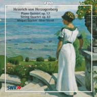 ヘルツォーゲンベルク(1843-1900)/String Quartet Op 63 Piano Quintet: Minguet Q Triendl(P)