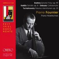 ブラームス:チェロ・ソナタ第2番、コダーイ:無伴奏チェロ・ソナタ、ドビュッシー:チェロ・ソナタ、チャイコフスキー:ロココ変奏曲 フルニエ、ホレチェク(1958)