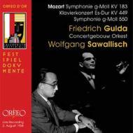 モーツァルト(1756-1791)/Sym 25 40 Piano Concerto 14 : Sawallisch / Concertgebouw O Gulda(P) (Salzburg