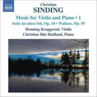 ヴァイオリンとピアノのための作品集第1集 クラッゲルード、ハドラン