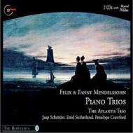 メンデルスゾーン:ピアノ三重奏曲第2番、ファニー・メンデルスゾーン:ピアノ三重奏曲 アトランティス・トリオ(+英語解説CD)