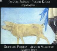 Chansons By Prevert: Florens(S)Marzorati(Br)Marcus Price(P)