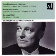 ビゼー:交響曲、メンデルスゾーン:ヴァイオリン協奏曲、シューマン:チェロ協奏曲 シェリング、ジャンドロン、クリュイタンス指揮(1952−59)