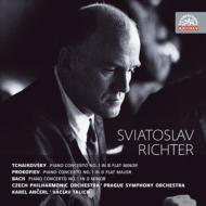 チャイコフスキー:ピアノ協奏曲第1番、プロコフィエフ:ピアノ協奏曲第1番、バッハ:ピアノ協奏曲第1番 リヒテル、アンチェル指揮、ターリヒ指揮