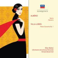アルベニス:組曲『イベリア』より、『ナバーラ』、ヴィラ=ロボス:ピアノ協奏曲第1番 アンセルメ&スイス・ロマンド管、バロン