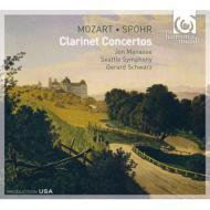 モーツァルト:クラリネット協奏曲、シュポア:クラリネット協奏曲第2番 マナシー、シュウォーツ&シアトル響