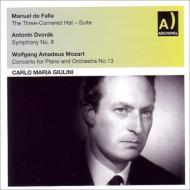 ドヴォルザーク:交響曲第8番、ファリャ:『三角帽子』組曲、モーツァルト:ピアノ協奏曲第13番 ジュリーニ&RAIミラノ響、ミケランジェリ、他
