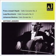 ハイドン:チェロ協奏曲第2番、ブラームス:チェロ・ソナタ第1番、他 ヤニグロ、ケンペ&RAIローマ響、デムス、他(1957−59)