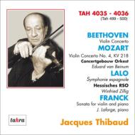 ベートーヴェン:ヴァイオリン協奏曲、モーツァルト:ヴァイオリン協奏曲第4番、ラロ:スペイン交響曲、フランク:ヴァイオリン・ソナタ ティボー(1949-52)(2CD)