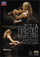 サン=サーンス:ヴァイオリン協奏曲第3番、グリーグ:ピアノ協奏曲 ユリア・フィッシャー(ヴァイオリン、ピアノ)、ピンチャー&ユンゲ・ドイチェ・フィル