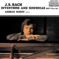 バッハ(1685-1750)/Invention & Sinfonia: A.schiff(P) (1977)
