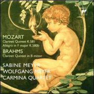 モーツァルト:クラリネット五重奏曲、ブラームス:クラリネット五重奏曲 ザビーネ&ヴォルフガング・マイヤー、カルミナ四重奏団