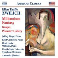 『ミレニアム・ファンタジー』、『ピーナツ・ギャラリー』、『映像』 ジメネス&フロリダ州立大学交響楽団、ビーゲル