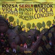 バルトーク:ヴィオラ協奏曲、ローザ:ヴィオラ協奏曲、シェルイ:狂詩曲 パワー、リットン&ベルゲン・フィル