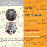 ゲッツ:ピアノ協奏曲、J.ヴィエニャフスキ:ピアノ協奏曲 ミルン、ドヴォジンスキ&BBCスコティッシュ響