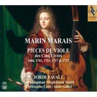 ヴィオール曲集全5巻より サヴァール、H.スミス、コワン、コープマン、他(5SACD)