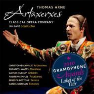 歌劇『アルタクセルクセス』全曲 I.ペイジ&クラシカル・オペラ・カンパニー、C.エインズリー、E.ワッツ、他(2009 ステレオ)(2SACD)