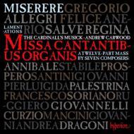 アレグリ:ミゼレーレ、エレミアの哀歌、7人の作曲家によるミサ曲『チェチーリアは楽器を奏で』 カーウッド&カージナルズ・ミュージック