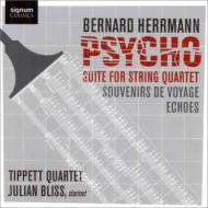 クラリネット五重奏曲『旅の思い出』、『サイコ組曲』、『エコー』 ジュリアン・ブリス、ティペット四重奏団