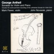 Violin Sonatas: Fewer(Vn)Novacek(P)