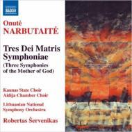 Tres Dei Matris Symphoniae: Servenikas / Lithuanian National So Kaunas State Cho Etc