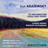 声楽とピアノのための24の前奏曲、他 グリマス(S)、ルクリ(p)、デガーニ(vn)