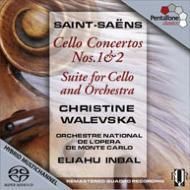 チェロ協奏曲第1番、第2番、組曲、アレグロ・アパッショナート ワレフスカ、インバル&モンテカルロ・フィル