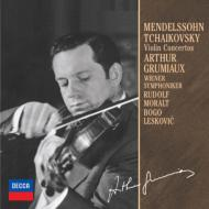 チャイコフスキ−:ヴァイオリン協奏曲、メンデルスゾ−ン:ヴァイオリン協奏曲 グリュミオー、レスコヴィッチ、モラルト、ウィーン響(限定盤)
